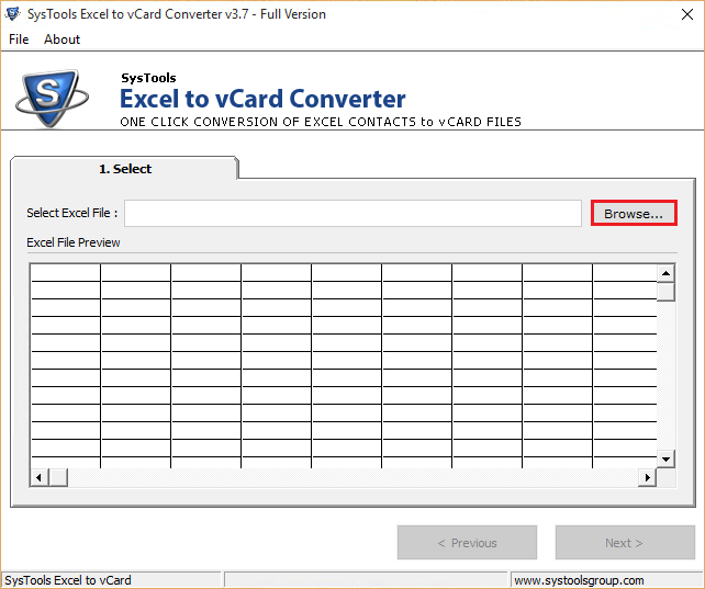 how to convert CSV file to vCard