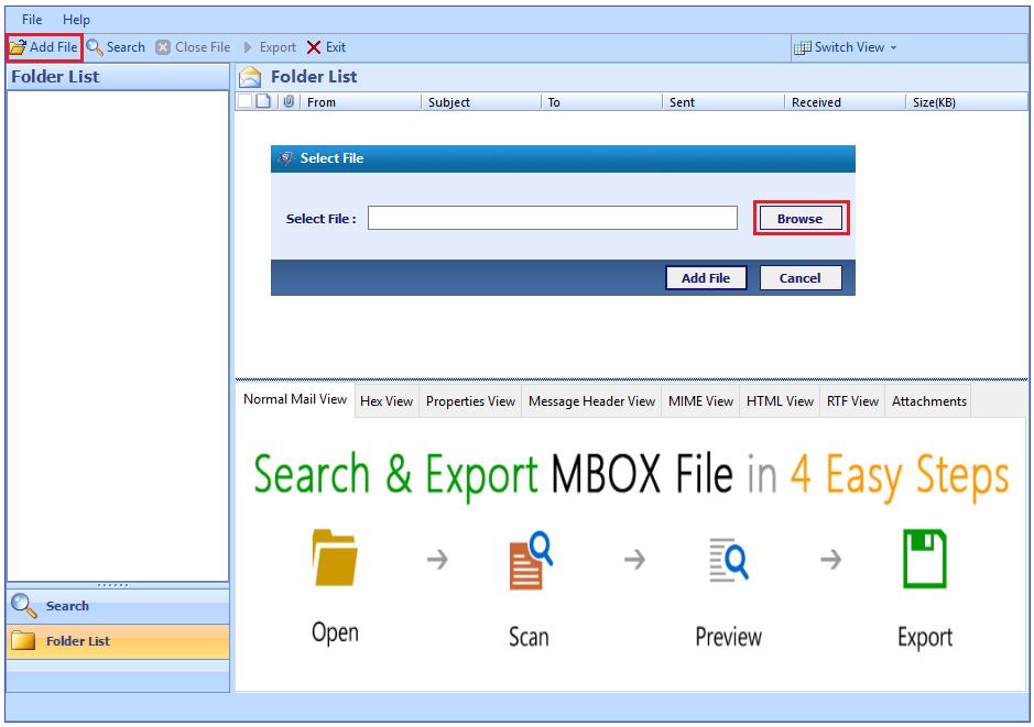 add gmail mbox file