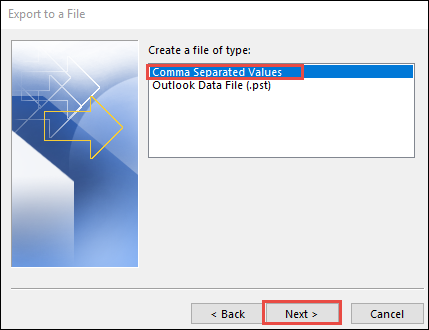 Choose CSV to extract contacts