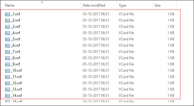 how to transfer CSV file to vCard