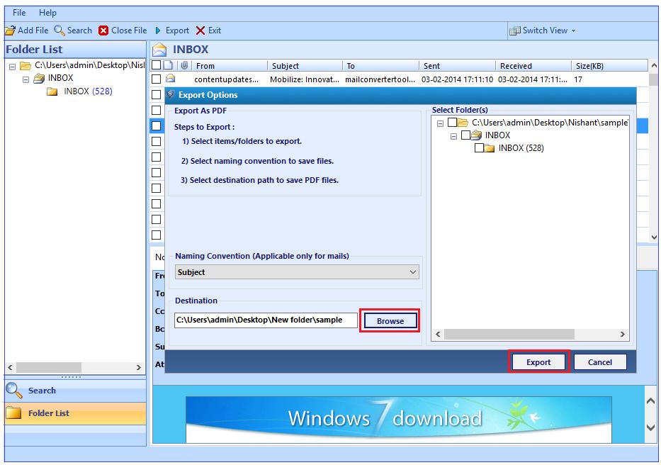 convert gmail mbox to pdf