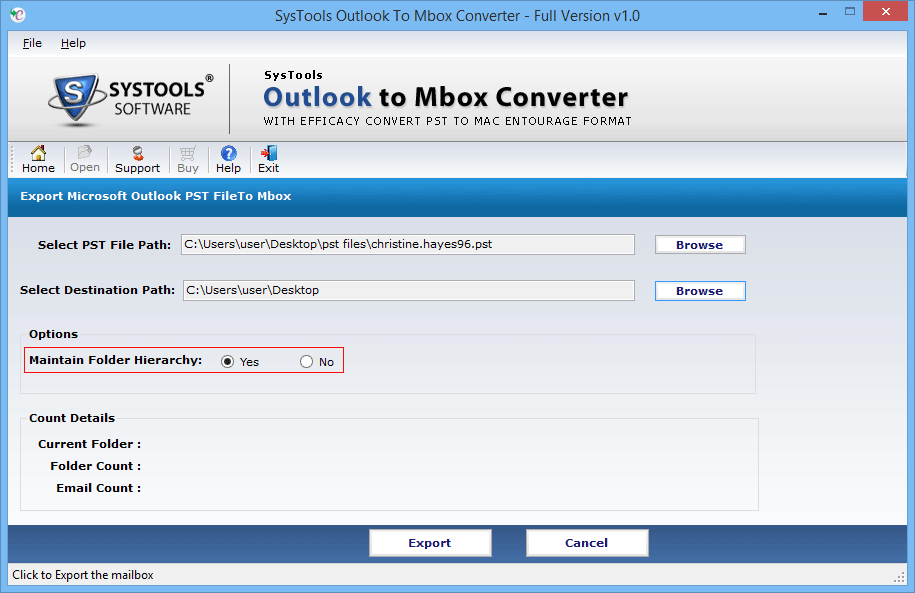 outlook to mbox format