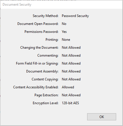 remove security from adobe pdf without password