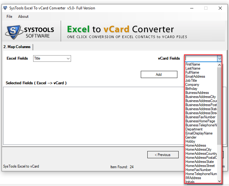 transfer contacts from CSV to VCF