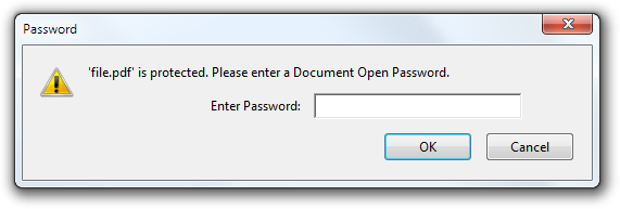 unlock document open password from pdf