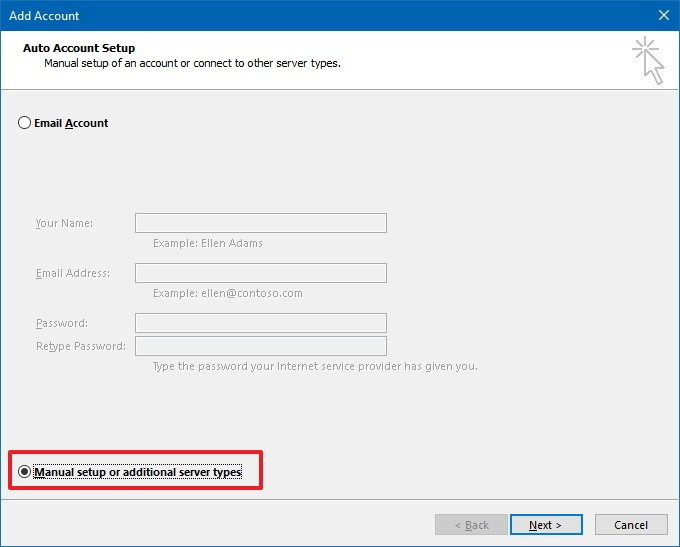 configure Yahoo mail to Outlook manually