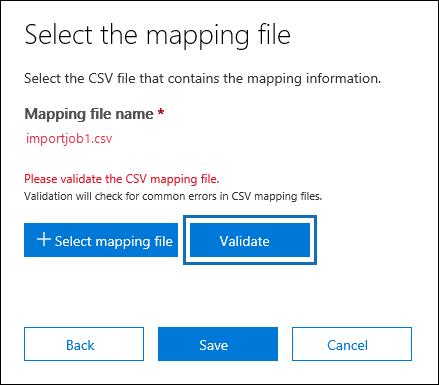 Validate file