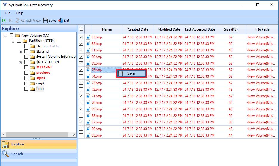 восстановить сдвиг удаленных файлов данных с ssd