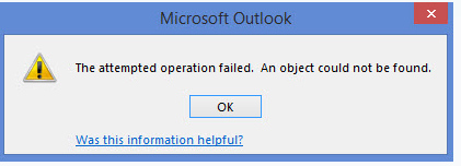 attempted operation failed