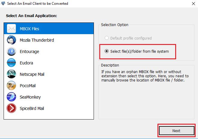 Откройте файл MBOX архиватора Google
