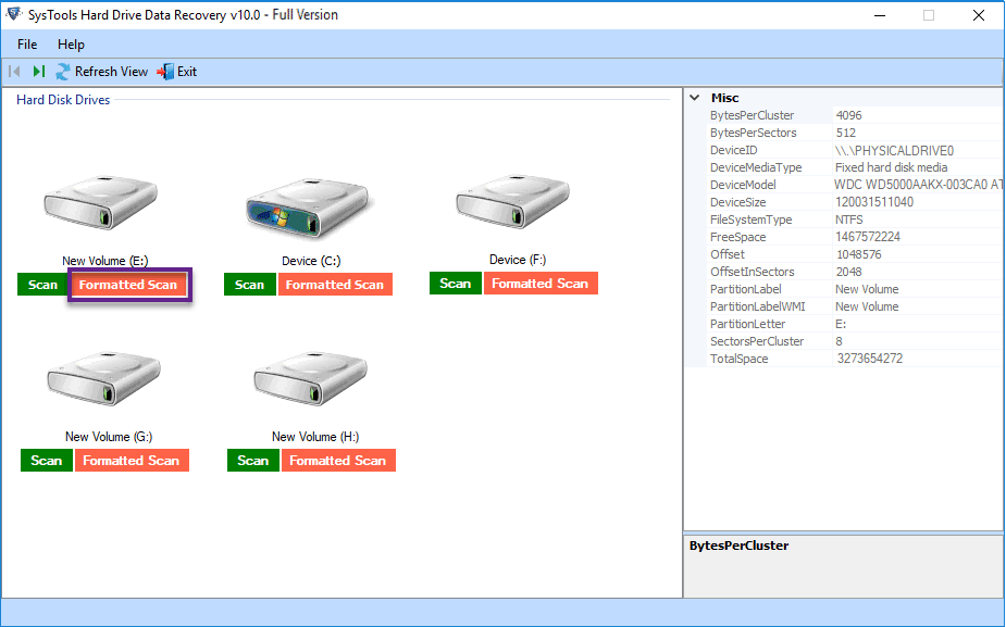 Hard Drive Data Recovery Tool to Restore Formatted