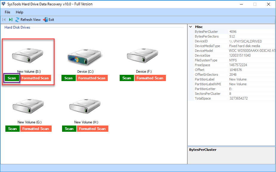 hdd drive deleted data recovery tool