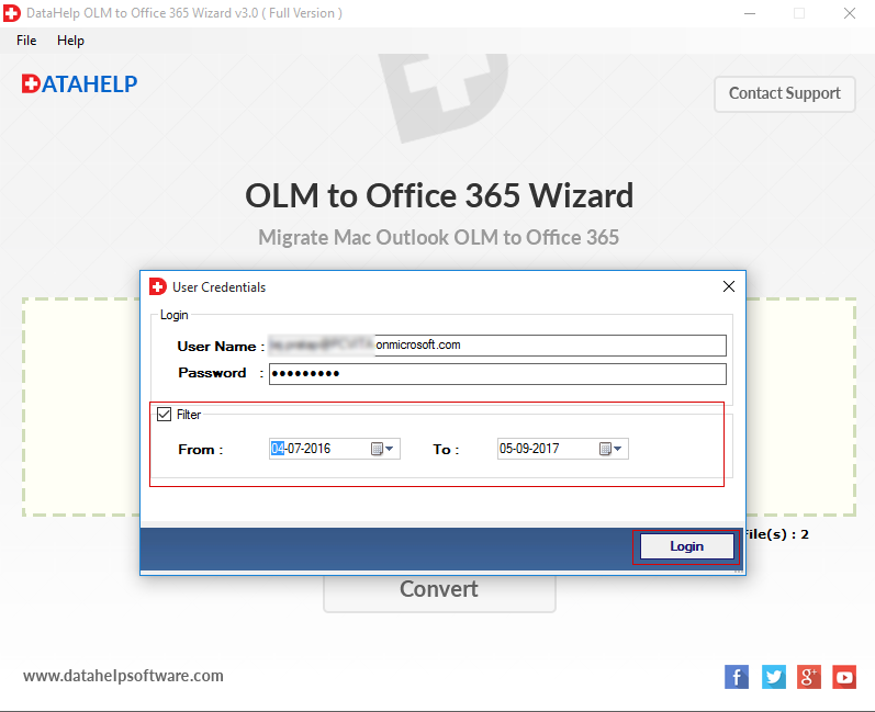 Office 365 account details