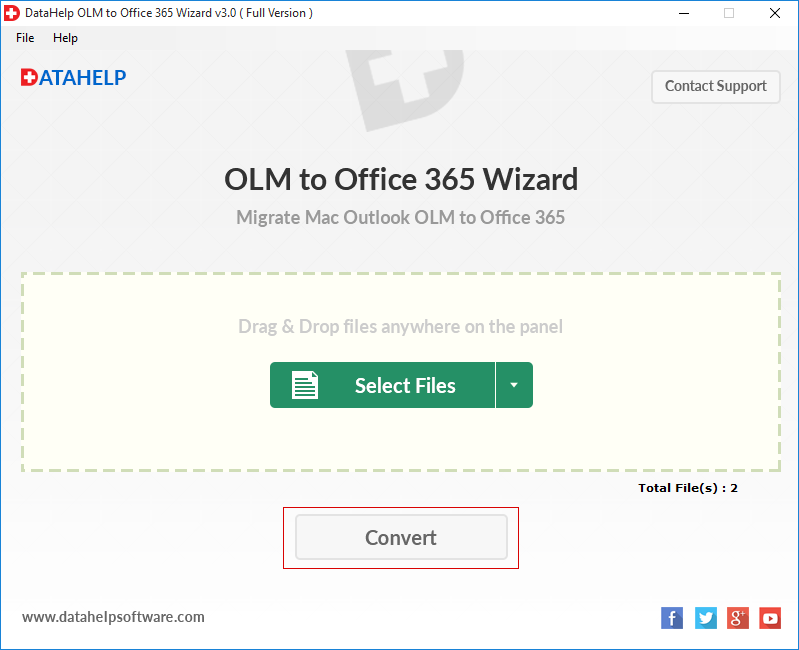 OLM to office 365 convert