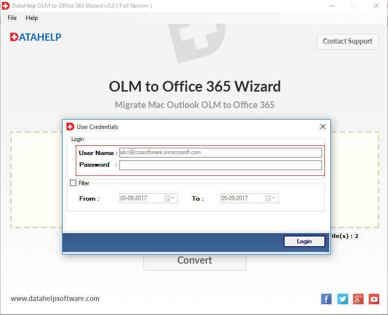OLM to Office 365 Wizard Migrate Mac Outlook to Office 365
